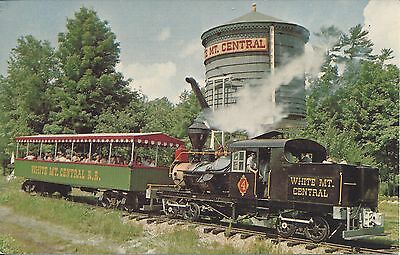 WHITE MOUNTAIN CENTRAL RAILROAD, STEAM ENGINE No.4 1970 POSTCARD
