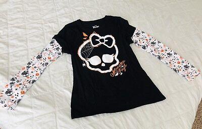 MONSTER HIGH DOLL Halloween Long Sleeved T-Shirt Girls XL *NEW* Size 14-16 NWOT - Halloween Monster High Doll