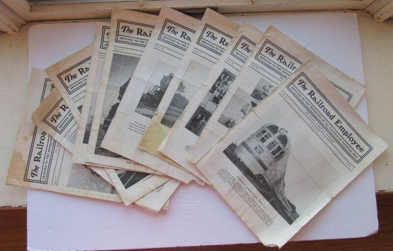 10 Issues The Railroad Employee Newspaper  1936/ 1937