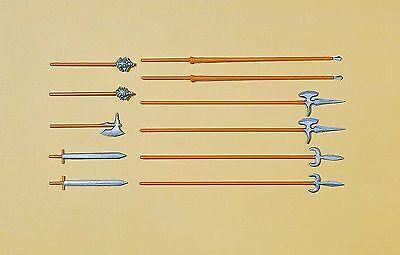 Preiser / Elastolin / 7cm bemalt - Ritter 52024 Waffenset, NEU & OVP
