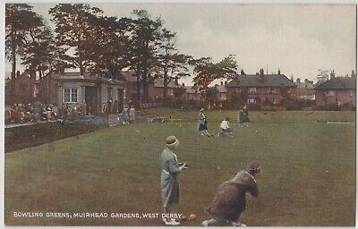 West Derby Liverpool Sport Bowling Greens Muirhead Gdns Colour Printed Postcard for sale  Shipping to Nigeria