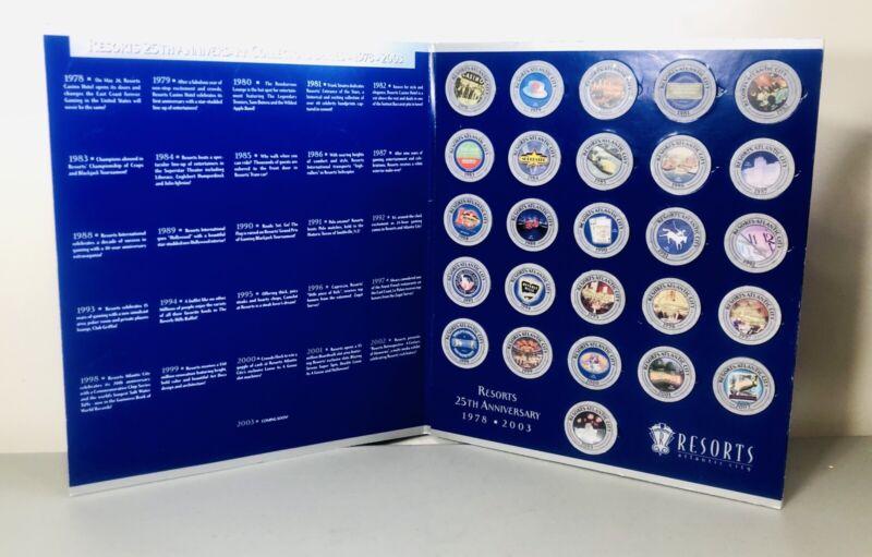 Resorts Atlantic City 25th Anniversary Ser. Platinum Players Collectors Edition.