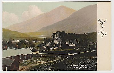 Crianlarich in ~1910 (Est) Vintage, Tinted PPC by McCulloch, VG Unused