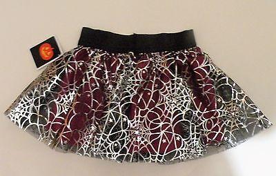 NEW Infant Girls Halloween Foil Tutu Petticoat Layered Skirt Costume Dress 18 M