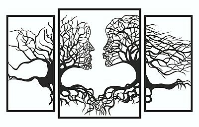 Tree Face Shape Dxf Cnc Sign For Plasma Laser Waterjet Router Plotter Cut Vector