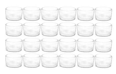 Teelichthalter Glas klar 24er Set Teelichtgläser Kerzenständer Windlicht Deko