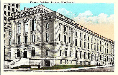 Tacoma  Washington  Federal Building   Postcard  Kk