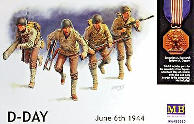 Master Box 3520: 1/35 US Infantry D-Day June 6 1944 (4 Figures)
