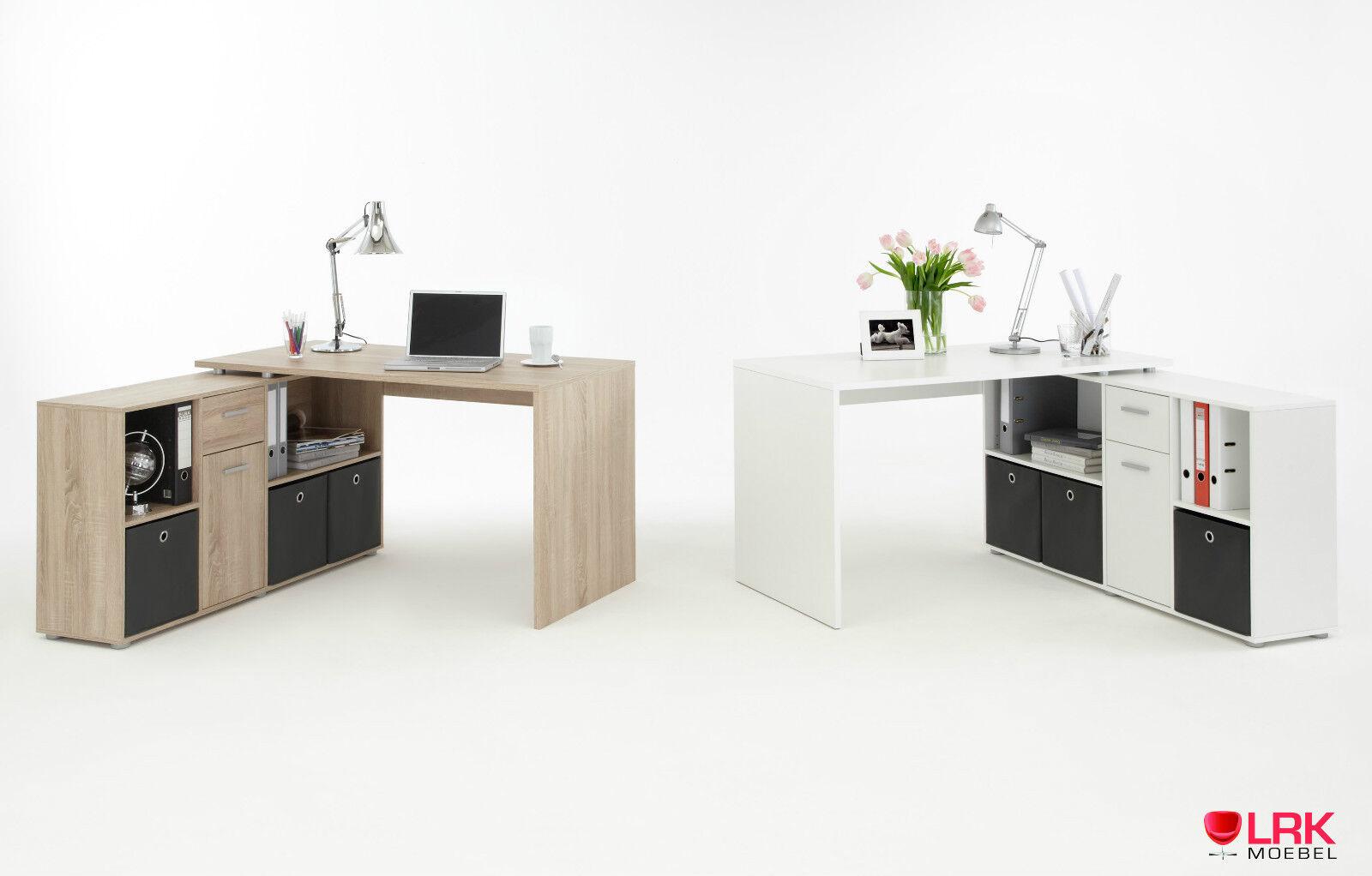 FMD Schreibtischkombination Lea Schreibtisch Winkeltisch Tisch Möbel Bürotisch