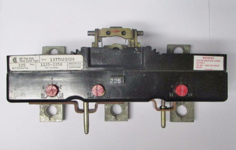 CUTLER HAMMER CHALLENGER LA3225PT LA Frame Tri Pac Trip Unit 3P 225A 1377D21G28