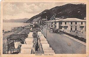 Cartolina-Postcard-Chiavari-Corso-Marina-animata-1928