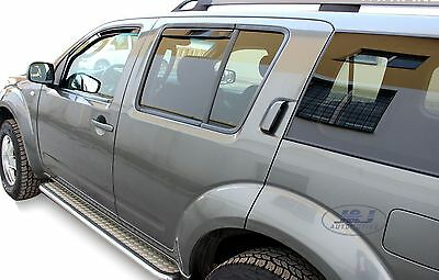 DNI24253 NISSAN PATHFINDER 5 door 2005-2012 wind deflectors 4pc TINTED HEKO