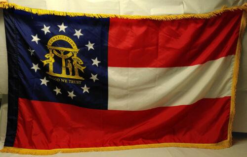 Georgia State Flag     US Army issue parade flag       est. 5