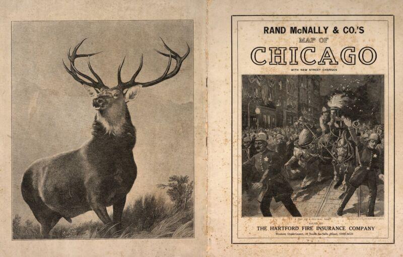 1913 Atlas CHICAGO CITY maps ILLINOIS old GENEALOGY STREET MAP Rand McNally DVD