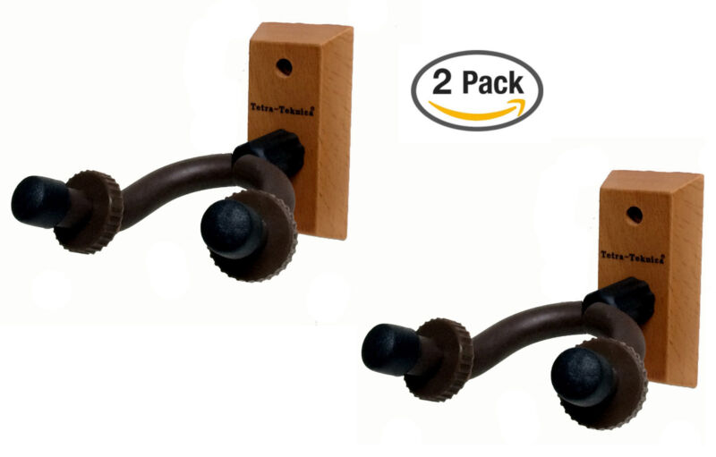 2-pack Egh01 Guitar Bass Banjo Violin Mandolin Hanger Hook Holder Wall Mount New