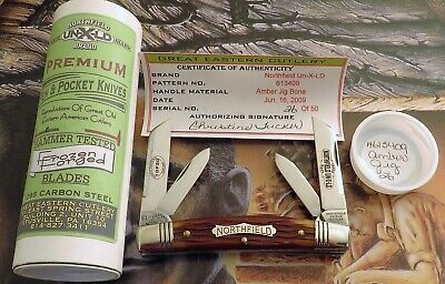 Great Eastern 2009 Congress Knife Nice Amber Bone UN-X-LD 1 OF 50 MINT IN BOX NR