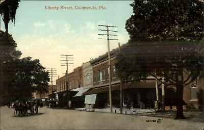 Gainesville FL Liberty St. c1910 Postcard for sale  South Portland