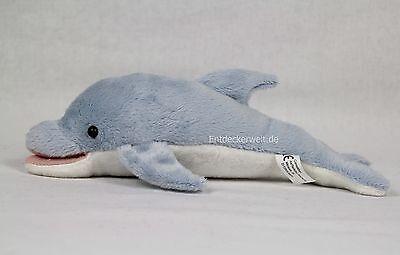 Stofftier Delfin blau, Plüschtier, Kuscheltier, (Länge 24cm), Delphin
