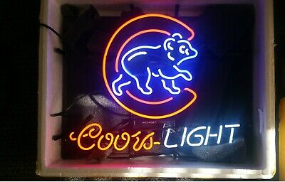 New Coors Chicago Cubs Neon Light Sign 20