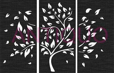 Dxf File For Cnc Plasma Router Laser Cut Vector Dxf Wall Art Tree Panel Art