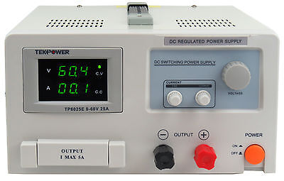Tekpower Tp6025e Dc Adjustable Switching Power Supply 60v 25a Digital Display