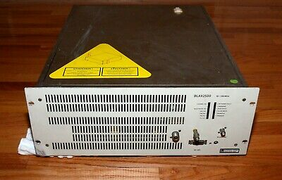 Bruker BLAX2500 RF Power Amplifier 10-130MHz 2500W Broadband Linear Pulse Amp