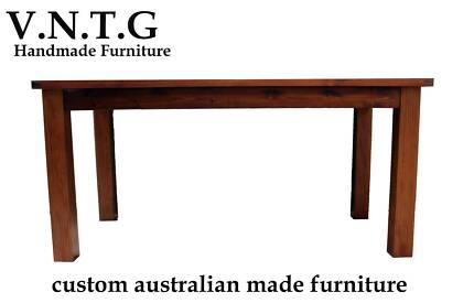 NEW INDUSTRIAL RUSTIC TIMBER DINING TABLE 1.2M