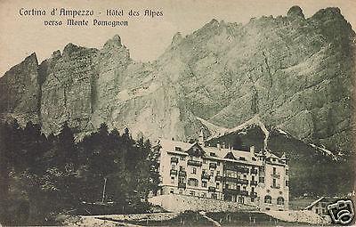 Cortina d'Ampezzo Hotel des Alpes verso Monte Pomagnon f.p.
