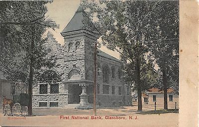 1909? First National Bank Glassboro NJ post card