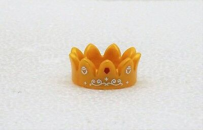 KRONE GOLD ZACKEN OFFEN MIT AUFDRUCK PLAYMOBIL zu König Königin Prinz Prinzessin