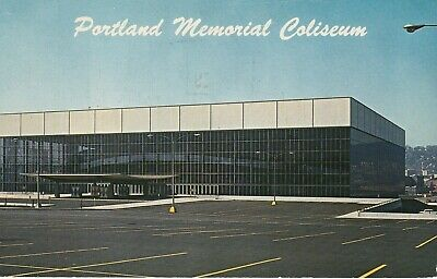 Portland Memorial Coliseum Postcard - Trailblazers Basketball - Buckaroos Hockey