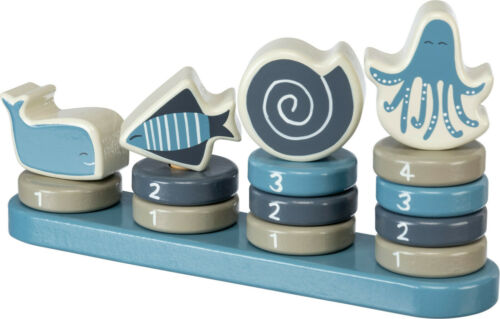 New Primitives By Kathy Under The Sea Wood Stacking Baby Boy Toy Puzzle Counting