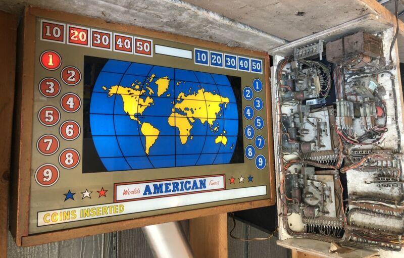 Antique American Shuffleboard MFG, Dual Overhead Scoreboard
