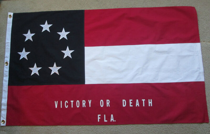 SEWN COTTON, Southern American Flag, Civil War Flag, 2nd Florida Infantry