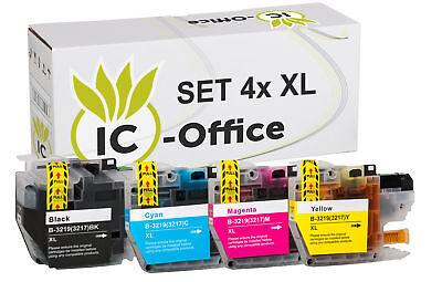Bk Kompatible Tinte (Set 4x XL TINTE PATRONEN für BROTHER MFC J5330DW J5335DW J5730DW J5930DW J6530DW)