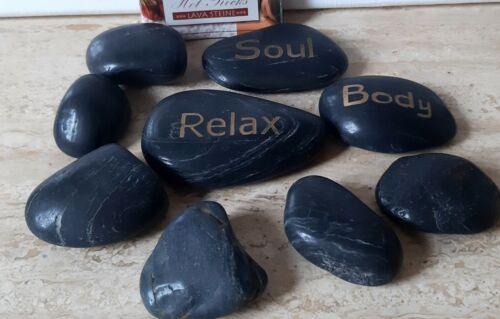 Neu: Hot Rocks Massage-Steine Lavasteine mit Anleitung