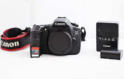 Used Canon EOS 60D Digital SLR Camera plus Battery, Charger, Strap, 16 GB Card+