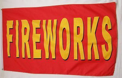 3x5 FireWorks 4th of July Flag 3'x5' House Banner US SELLER (#3)