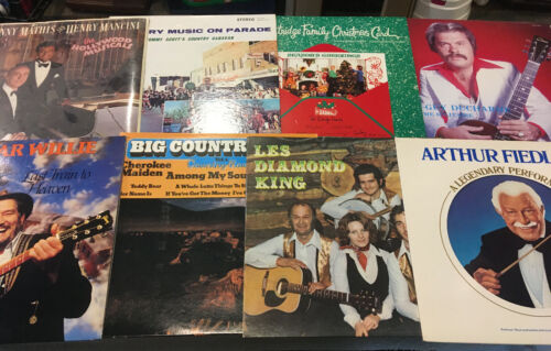 Lot Of 8 CLASSIC Country Western ROCK VINYL RECORD ALBUMS Records VG+ Bundle