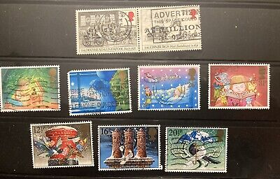 Great Britain:1983-7 lot of 9 SC # 1035-37, 1065-66, 1196-99, used. lot #122902