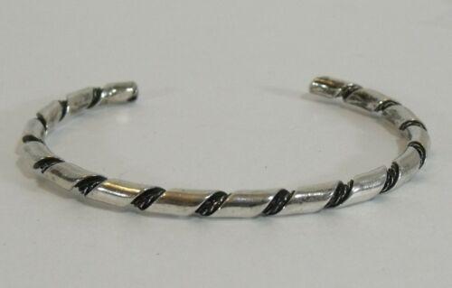 Navajo sterling silver twist wire cuff bracelet