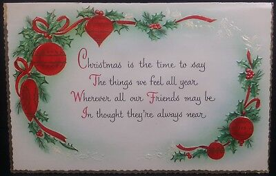 Vintage Used Christmas Card CHRISTMAS GREETINGS / BEST WISHES /