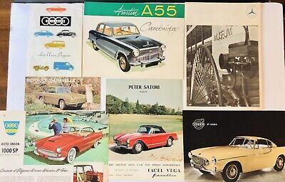 Very Rare Vintage European Car Advertisement Posters Flyers Mercades Benz Austin