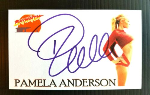"""""""BAYWATCH"""" PAMELA ANDERSON AUTOGRAPHED 3X5 INDEX CARD"""