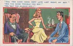 POSTCARD-COMIC-You-two-came-home-very-late-last-night