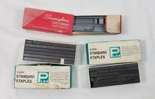 3 Boxes Vintage Staples Swingline SF 1 Plus Standard