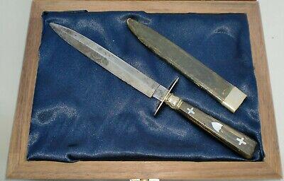 Civil War Soldiers Bowie Knife,- Co K, NHV A Hobson Sheffield maker