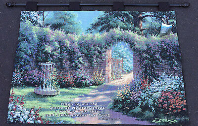 Gates of Righteousness Garden Path Tapestry Wall Hanging -