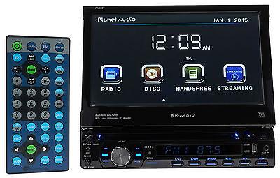 Planet Audio P9759B 7\ Single Din In Dash Car DVD/CD Receiver w/Bluetooth USB/SD