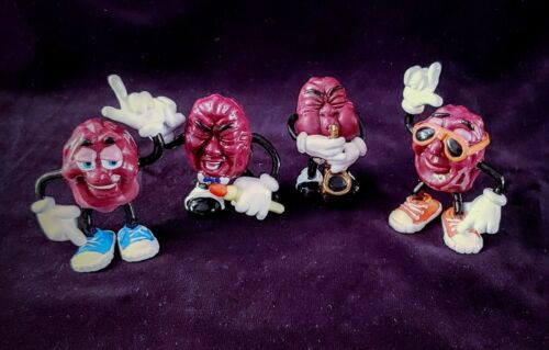 1987 Post Cereal CALIFORNIA RAISINS Figurine Collection 2 Sets of 4 avail. - New